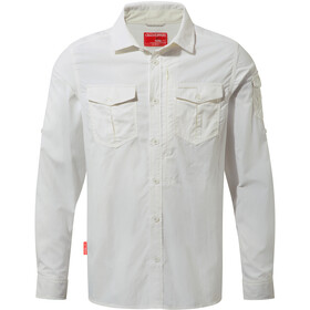 Craghoppers NosiLife Adventure II Longsleeve Shirt Heren, optic white